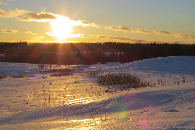 Cold,windy evening Timmins, Ontario Canada