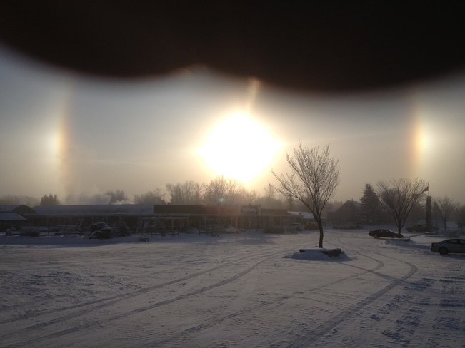Morning Sundog Sherwood Park, Alberta Canada