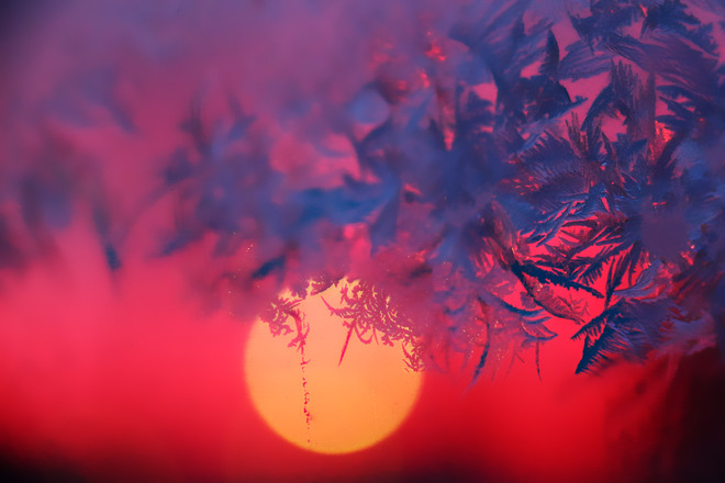 Sunset,behind jack-frost The Pas, Manitoba Canada