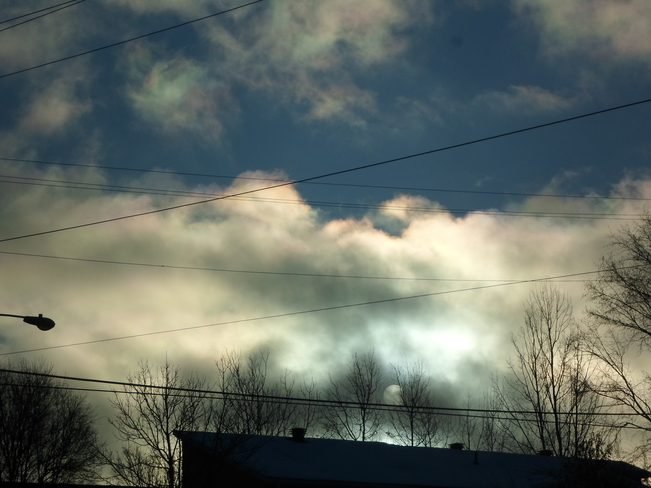 The sun was playing with the clouds Elliot Lake, Ontario Canada
