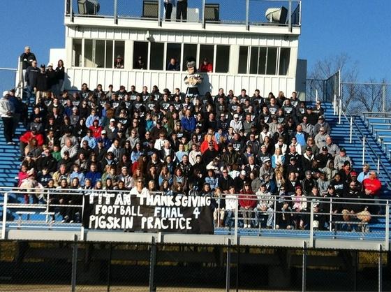 Titan Thanksgiving Final Four Football Pigskin Practice