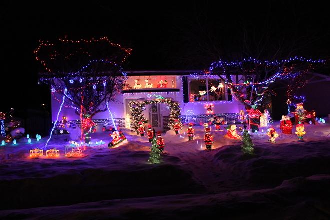 Christmas Display Camrose, Alberta Canada