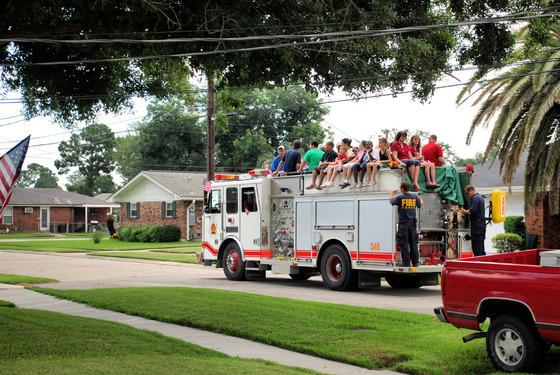Jefferson Parish 3rd District Volunteer Fire Dept 4th of July fire truck rides
