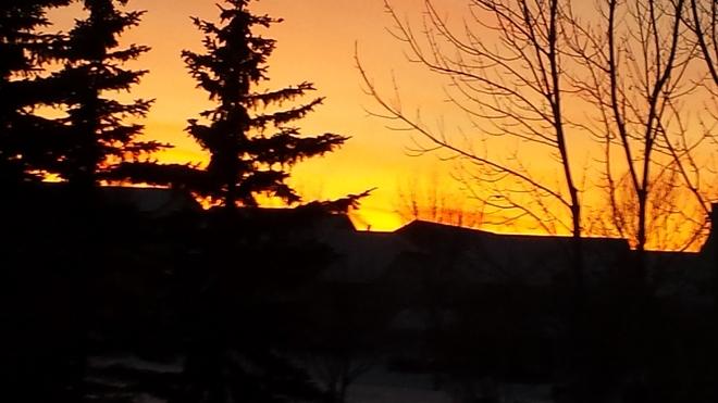Sunset Okotoks, Alberta Canada