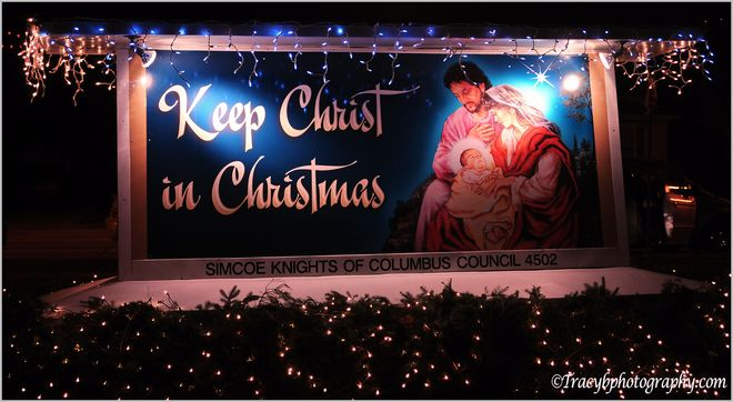 Keep christ in Christmas. Port Dover, Ontario Canada