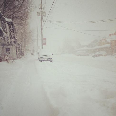 snow squalls Port Carling, Ontario Canada
