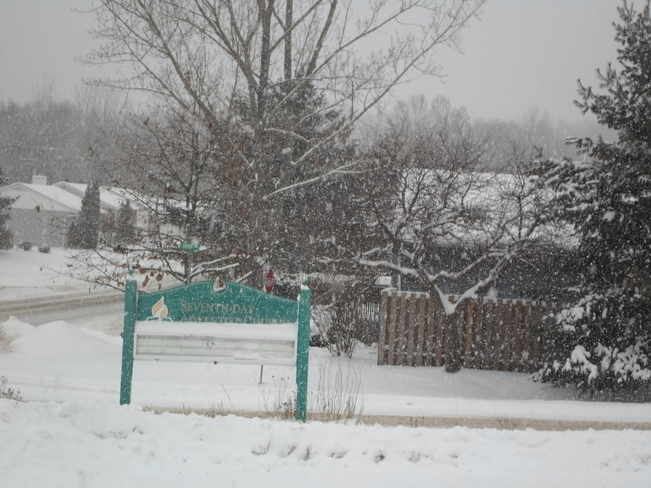 Yes it is snowing again in Elliot Lake Elliot Lake, Ontario Canada