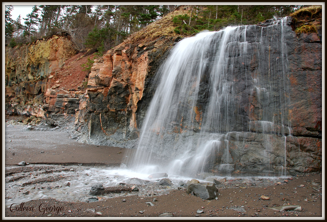 December Waterfall Centreville, Nova Scotia Canada