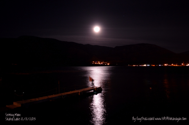Setting Of The Moon Penticton, British Columbia Canada
