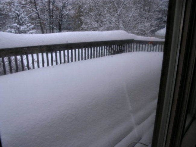 Front Deck Accumulation Parry Sound, Ontario Canada