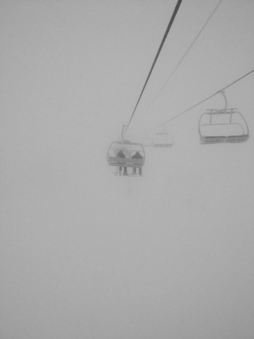 day on the hills at Fernie alpine resorts, little foggy!