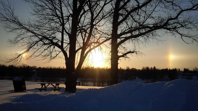 Sun dogs Fort Frances, Ontario Canada