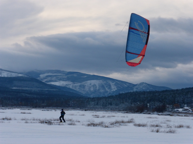 KITE SKIING RETURNS Cranbrook, British Columbia Canada