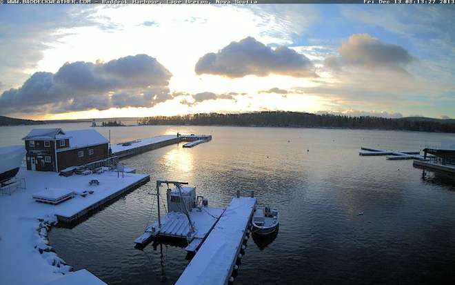 A Beautiful Morning weighing in at -11.9 Baddeck, Nova Scotia Canada