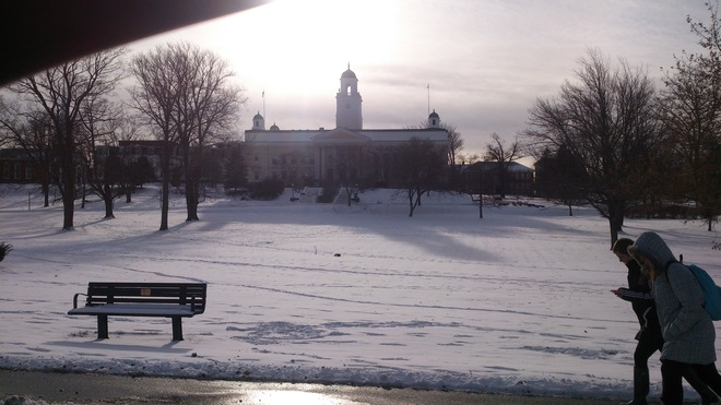 Acadia U on a Cool Cool Day in Wolfville Wolfville, Nova Scotia Canada