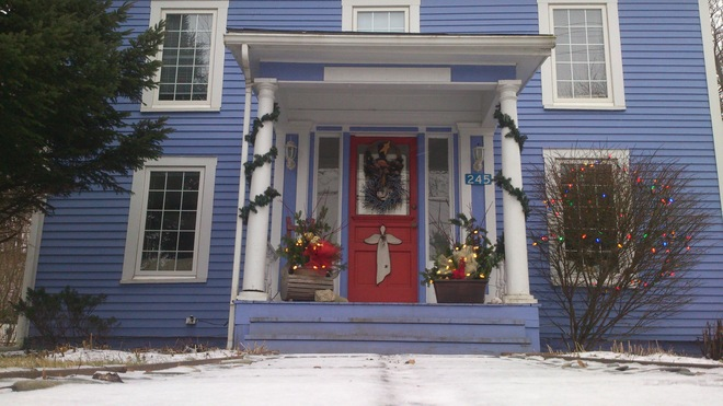 Wolfville is ready for Ho Ho Ho Snow Wolfville, Nova Scotia Canada