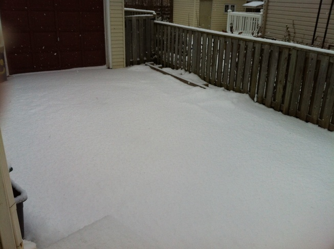 lots of snow Welland, Ontario Canada