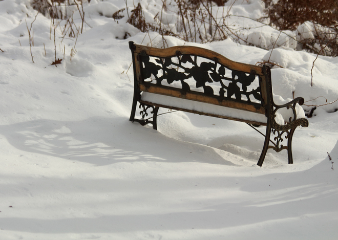 There's snowhere to sit! Tusket, Nova Scotia Canada