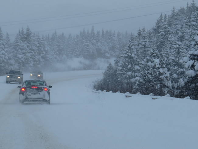 snow coved Roads Marystown, Newfoundland and Labrador Canada