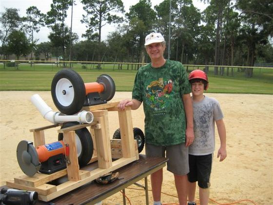 how to make a pitching machine