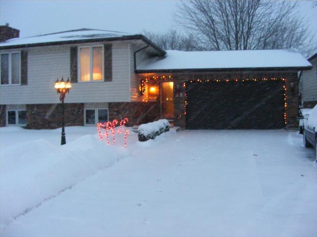 Saturday Snow picture Essex, Ontario Canada