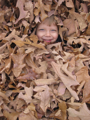 Love playing in the Leaves after Thanksgiving