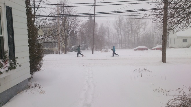 Wolfville Cross Country Skiers say Let it Snow Wolfville, Nova Scotia Canada