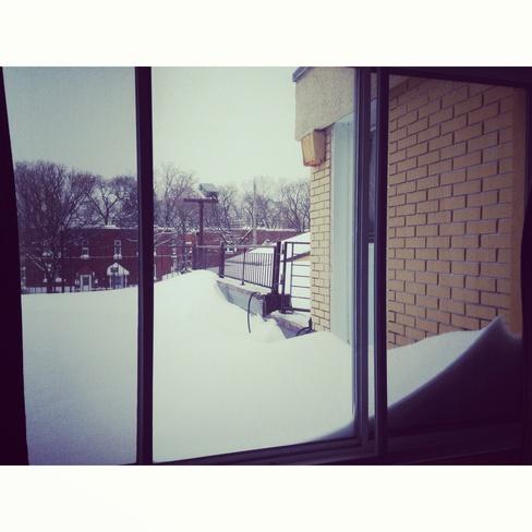 A little snow has fallen today! Montréal, Quebec Canada