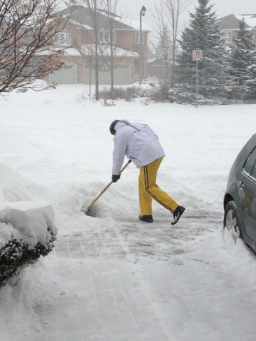 Round 1 of shovelling Oakville, Ontario Canada