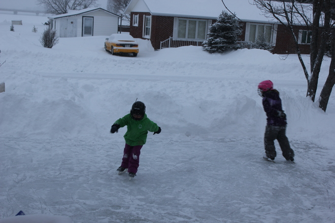 snow day fun Tracadie-Sheila, New Brunswick Canada