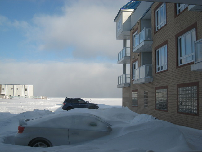 Car Buried In The Snow! Shediac, New Brunswick Canada