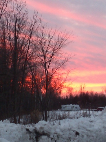 Sunset colours Napanee, Ontario Canada