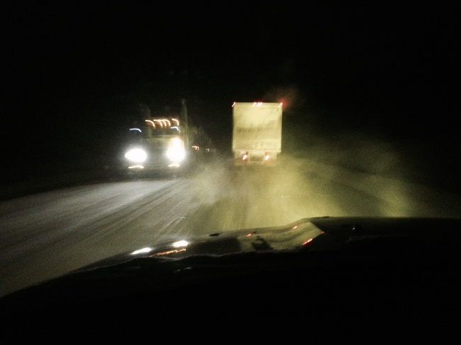 Watch road conditions. Fort McMurray, Alberta Canada
