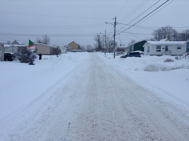 street covered with snow Sydney, Nova Scotia Canada