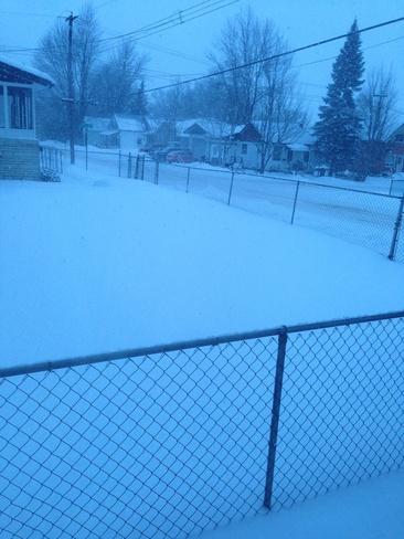 snowing Pembroke, Ontario Canada