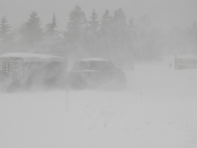 Blowing Winds and Snow Drifts Northern Cape Breton Ingonish, Nova Scotia Canada