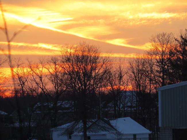 Fire on the sky Chippawa, Ontario Canada
