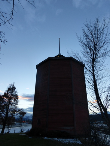 CLEARING SKIES OVER WATER TOWER Cranbrook, British Columbia Canada