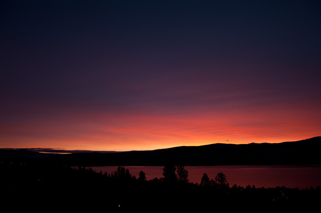 Winter sunrise West Kelowna, British Columbia Canada