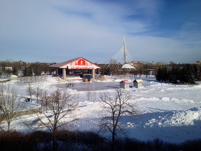 Ice rink at The Forks Winnipeg, Manitoba Canada