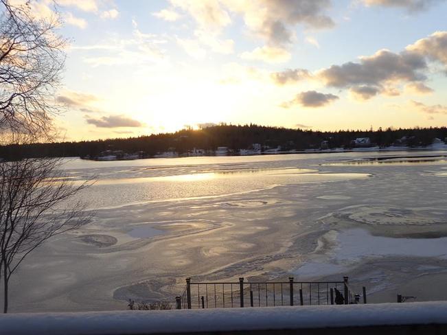Frozen Lewis Lake Mount Uniacke, Nova Scotia Canada
