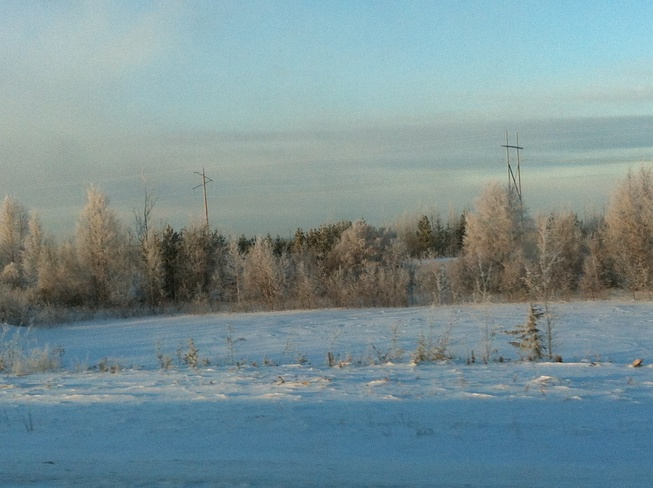 pretty but cold Fort McMurray, Alberta Canada