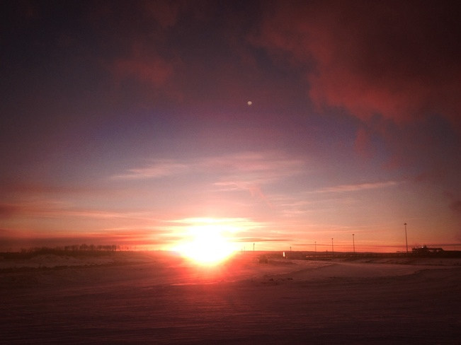 Shortest day of the year. Anzac, Alberta Canada