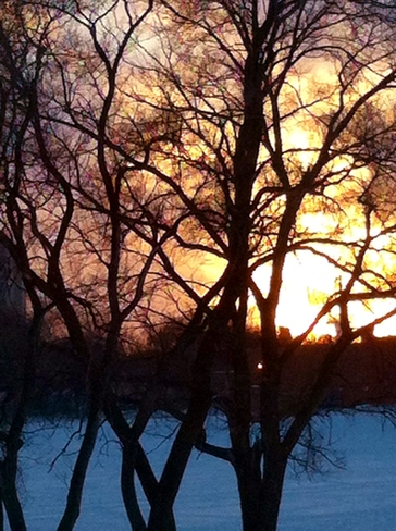 beautiful sunset Winnipeg, Manitoba Canada