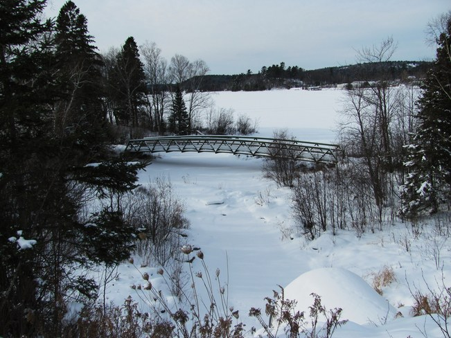 Bridge Over Frozen Waters Elliot Lake, Ontario Canada