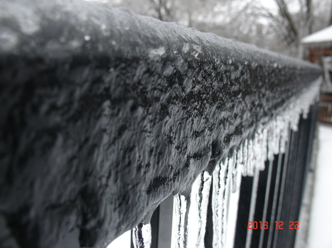 Ice Wall Courtice, Ontario Canada