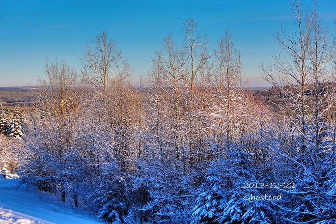 -7.1°C @ 11 PM 22 Dec 2013 Swan Hills, Alberta Canada