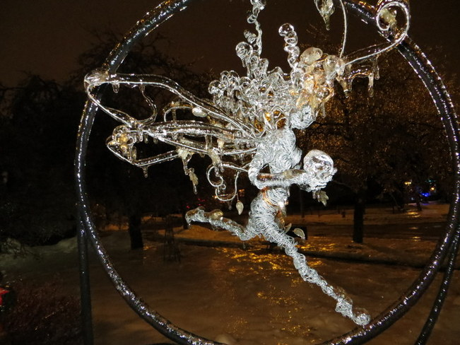 The Ice Faerie flies Brampton, Ontario Canada