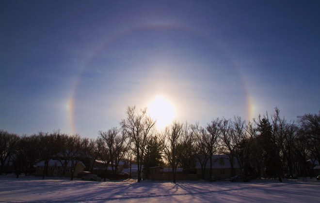 SunDogs in Sask. in Dec. Regina, Saskatchewan Canada