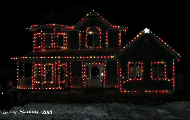 """Decorated House in Badger"" Badger, Newfoundland and Labrador Canada"